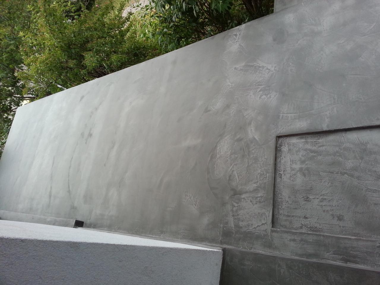 Terrasse extérieur en béton ciré
